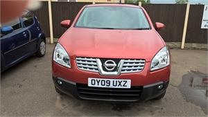 Nissan Qashqai Acenta 1461cc DCI 5 Door Diesel. OY09 UXZ. Orange miles first registered 15.06.09. £5995. CD Player Power Steering. Electric Windows Electric Mirrors Central Locking. Service History Air Con Alloys.